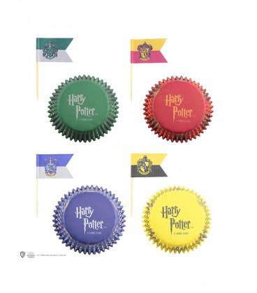 Lot de 96 décorations Gryffondor, Poufsouffle, Serdaigle, et Serpentard pour Cupcakes,  Harry Potter, Boutique Harry Potter, ...