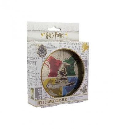 Lot de 4 Sous Verre Thermo-réactif Choixpeau,  Harry Potter, Boutique Harry Potter, The Wizard's Shop