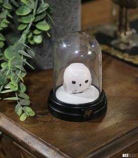 Mini Lampe sous cloche Harry Potter Hedwig