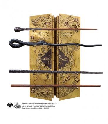 Marauder's map 4 wands Display