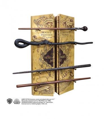 Présentoir 4 Baguettes la carte du Maraudeur,  Harry Potter, Boutique Harry Potter, The Wizard's Shop