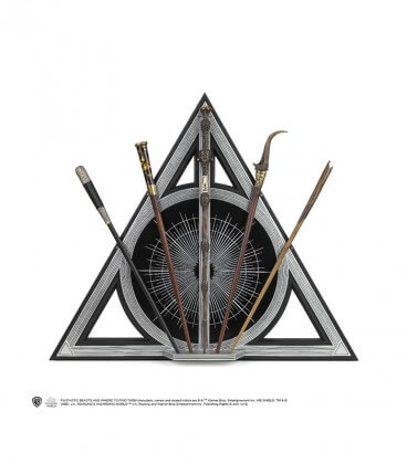 """5 wands Deathly Hallows """"The crimes of Grindelwald"""" Display - Fantastic Beasts"""