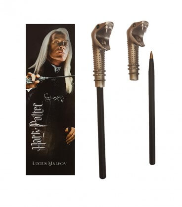 Stylo Baguette & Marque page Lucius Malfoy,  Harry Potter, Boutique Harry Potter, The Wizard's Shop