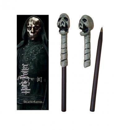 Death Eater Wand Pen & Bookmark (Skull)