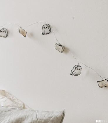 Guirlande lumières 2D Hedwig Lettre Poudlard,  Harry Potter, Boutique Harry Potter, The Wizard's Shop