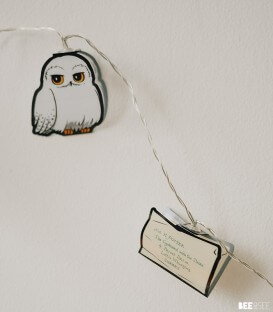 Guirlande lumières 2D Hedwig Lettre Poudlard,  Harry Potter, Boutique Harry Potter, The Wizard's Shop
