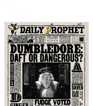 Carte de voeux lenticulaire Dumbledore