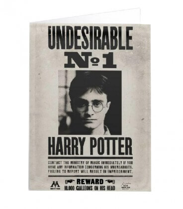 Lenticular Undesirable Harry Potter No.1 Greeting Card