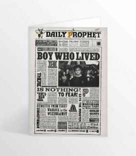 Lenticular Greeting Card The Daily Prophet The Boy Who Lived