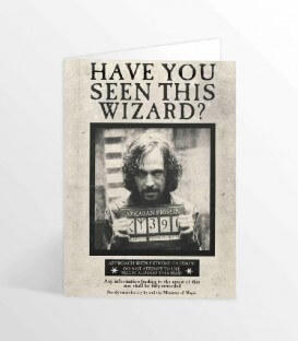 Sirius Black lenticular greeting card Have you seen this wizard