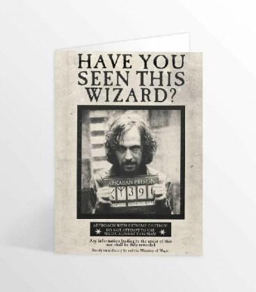 Carte de voeux lenticulaire Sirius Black Avez-vous vu ce sorcier,  Harry Potter, Boutique Harry Potter, The Wizard's Shop