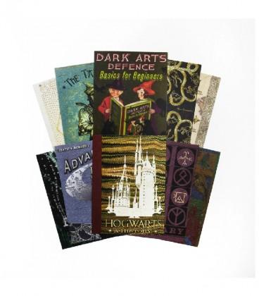 Lot de 20 cartes postales Série Couverture de livres Poudlard,  Harry Potter, Boutique Harry Potter, The Wizard's Shop