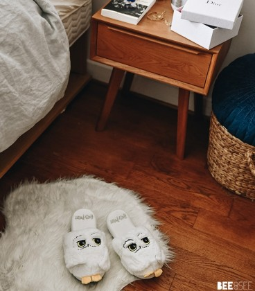 Chaussons femme Harry Potter Hedwig