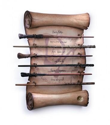 Présentoir de 6 baguettes de l'Armée de Dumbledore,  Harry Potter, Boutique Harry Potter, The Wizard's Shop