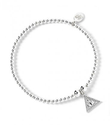 Deathly Hallows Bead Bracelet - 925th Silver with Swarovski Crystals - HP