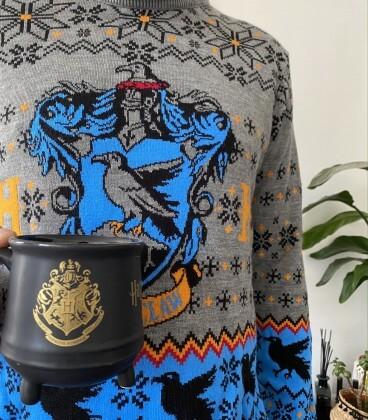 Pull de Noël Serdaigle Crest,  Harry Potter, Boutique Harry Potter, The Wizard's Shop