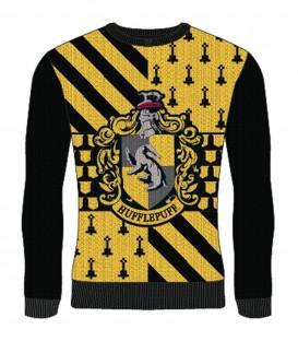 Pull de Noël Poufsouffle Crest,  Harry Potter, Boutique Harry Potter, The Wizard's Shop