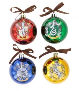 4 Boules décoration de sapin de Nöel HP