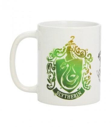 Mug Ecusson Serpentard Tie and Dye Blanc,  Harry Potter, Boutique Harry Potter, The Wizard's Shop