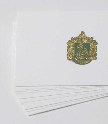 10 Cartes et Enveloppes de Luxe Serpentard,  Harry Potter, Boutique Harry Potter, The Wizard's Shop