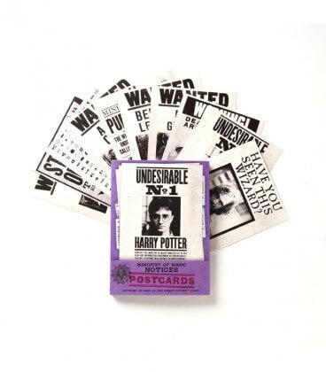 Lot de 20 cartes postales Série Ministère de la magie,  Harry Potter, Boutique Harry Potter, The Wizard's Shop