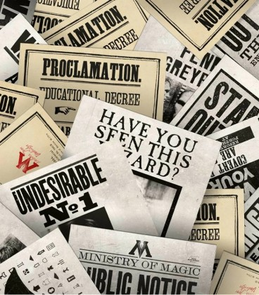 Set of 20 Ministry of Magic series postcards