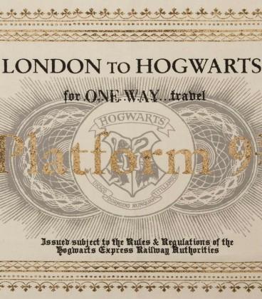 Torchon Hogwarts Ticket,  Harry Potter, Boutique Harry Potter, The Wizard's Shop