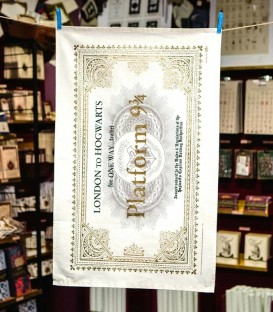 Hogwarts Ticket tea towel
