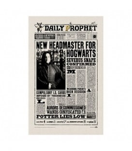 The Daily Prophet: New Headmaster for Hogwarts Tea Towel