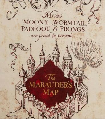 The Marauder's Map tea towel