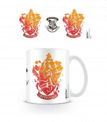 Gryffindor Tie and Dye badge mug white