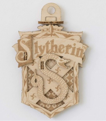 Slytherin HP wooden decoration