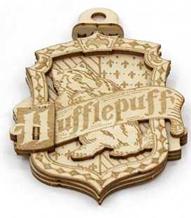Décoration en bois Hufflepuff HP