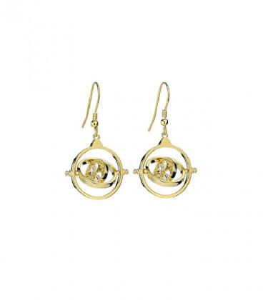 Boucles d'oreilles pendantes retourneur de temps en argent plaqué or ornées de cristaux Swarovski,  Harry Potter, Boutique Ha...