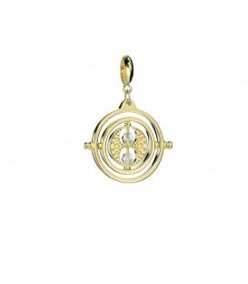 Pendentif Charm Retourneur de temps Argent 925ème plaqué or avec Cristaux de Swarovski,  Harry Potter, Boutique Harry Potter,...