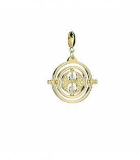Time-Turner Charm Pendant 925 Silver Gold Plated with Swarovski Crystals