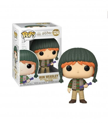 Figurine POP! Holiday Ron Weasley n° 124,  Harry Potter, Boutique Harry Potter, The Wizard's Shop