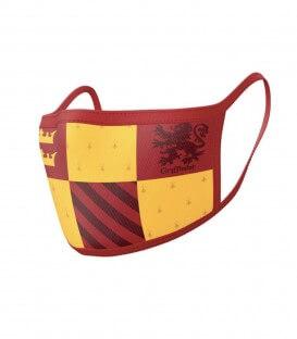 Pack of 2 reusable Gryffindor face masks