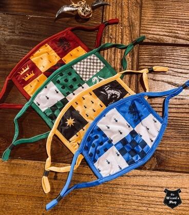 Lot de 2 masques Serpentard réutilisables,  Harry Potter, Boutique Harry Potter, The Wizard's Shop