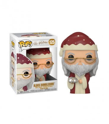 Figurine POP! Albus Dumbledore de Noel N°125,  Harry Potter, Boutique Harry Potter, The Wizard's Shop
