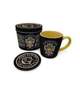 Cup, Coaster and  metal Box set- Gringotts Bank