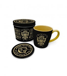Set de Tasse et Sous Tasse en Boîte Métal - La banque Gringotts,  Harry Potter, Boutique Harry Potter, The Wizard's Shop