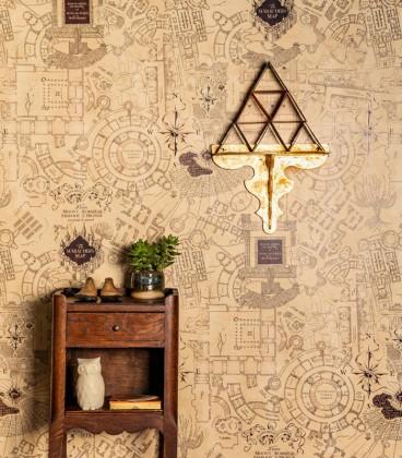 Papier peint The Marauder's Map,  Harry Potter, Boutique Harry Potter, The Wizard's Shop