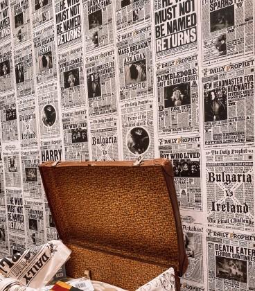 Papier peint The daily prophet Harry Potter,  Harry Potter, Boutique Harry Potter, The Wizard's Shop