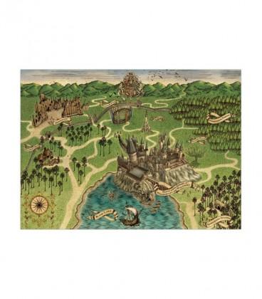 Hogwarts Map Poster