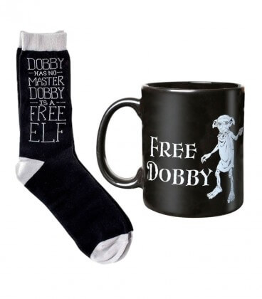 Mug et Chaussettes Free Dobby,  Harry Potter, Boutique Harry Potter, The Wizard's Shop