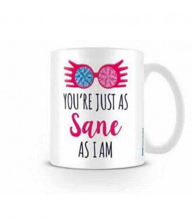 Mug Luna You're juste as sane as i am,  Harry Potter, Boutique Harry Potter, The Wizard's Shop