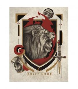 Affiche Lithographie Maison Gryffondor Édition limitée,  Harry Potter, Boutique Harry Potter, The Wizard's Shop