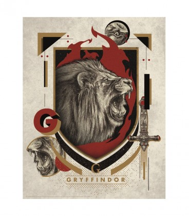 Gryffindor House Lithograph Poster Limited Edition