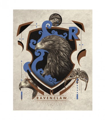 Anglais  Ravenclaw House Lithograph Poster Limited Edition